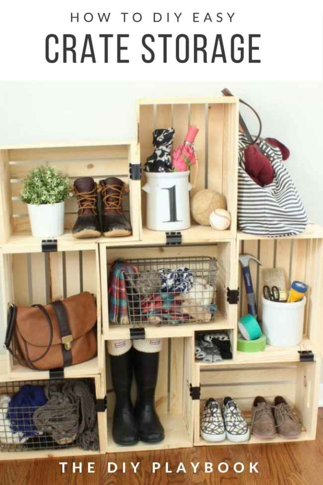 DIY Crate Storage