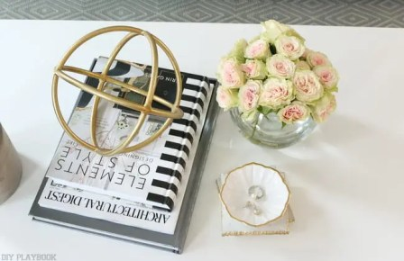 maggie reveal coffee table flowers