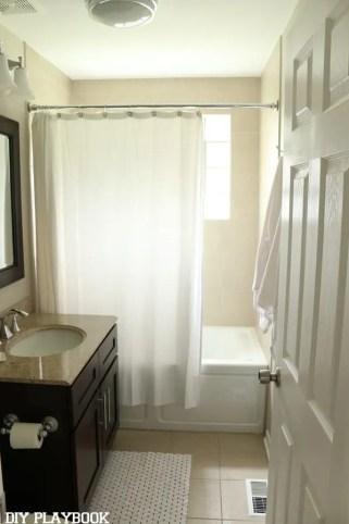 shower curtain bathroom before