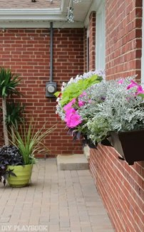 flower box patio landscaping