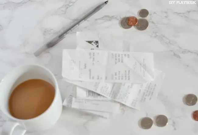coffee-change-receipts