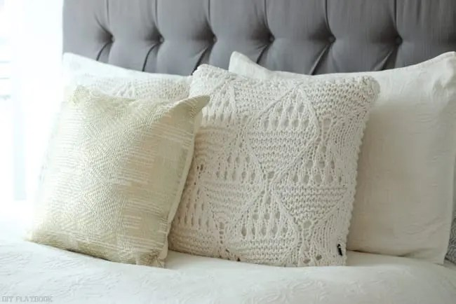 Maggie Pillow Headboard gold