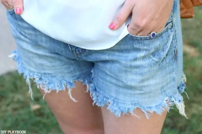 bridget jean shorts summer