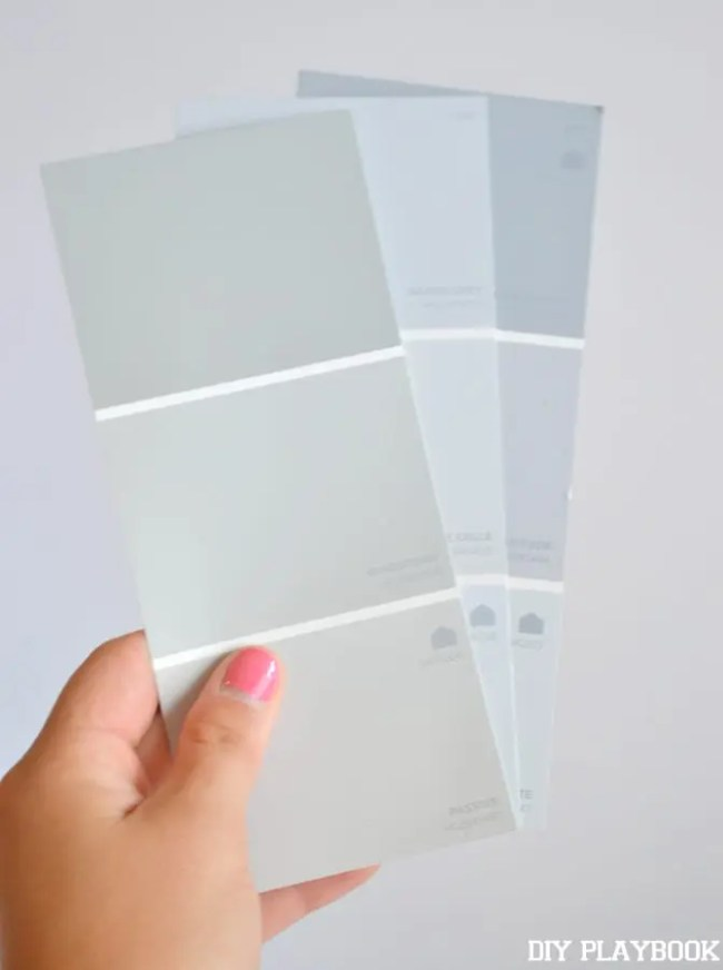 gray paint color swatches for your home