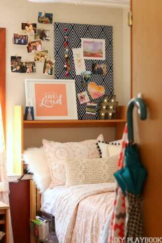 dorm room makeover dormify pink bedding