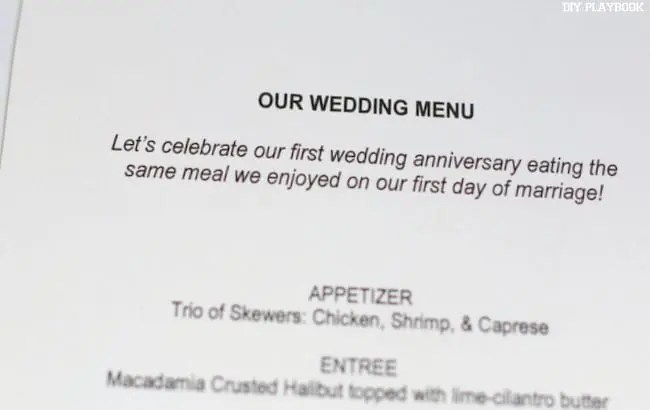 1-Our Wedding Menu