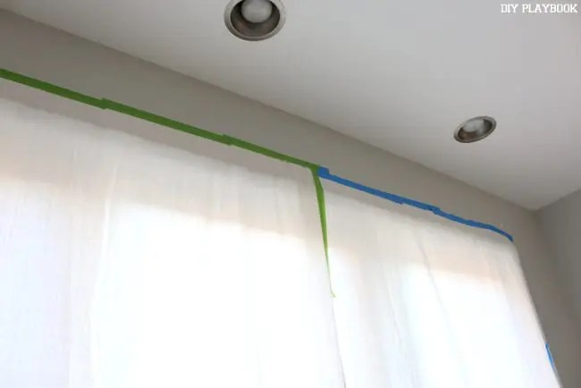 Painters Tape Curtains