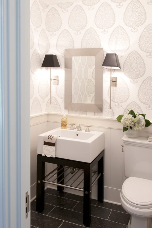 beadboard bathroom wallpaper