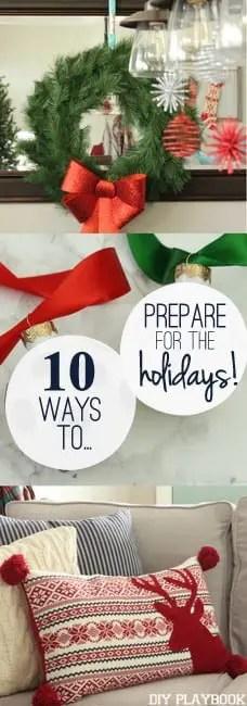 Christmas holidays steps to prepare