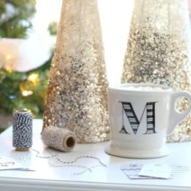 Mug crafts Christmas dream tree gifts bow