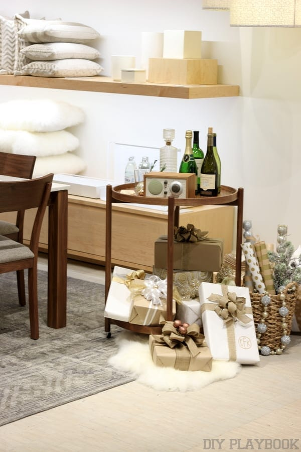 Room and board holiday bar cart