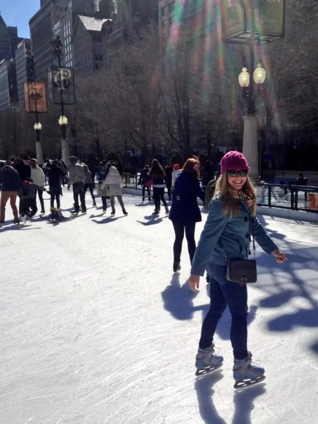 casey ice skating millenium park