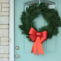 Christmas Wreath Door