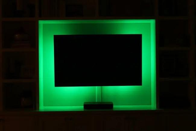 led-lights-green-tv