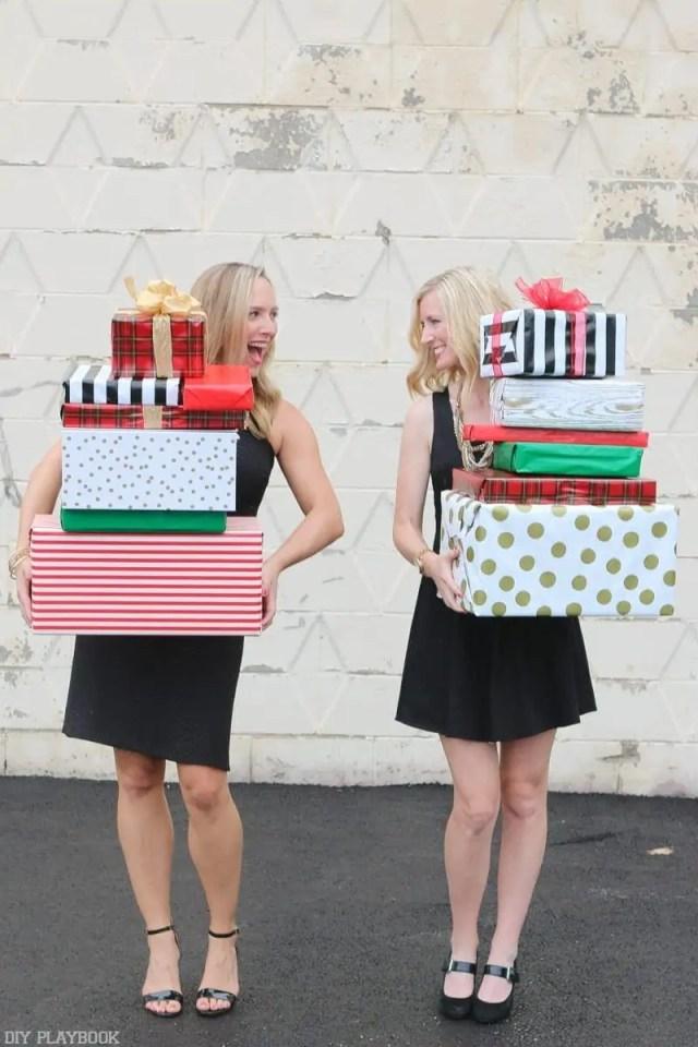 2016-DIY-Playbook-Christmas-Card-Casey-Bridget-behind-boxes