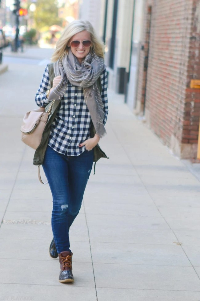 bridget-fall-plaid-vest-boots-jeans-casual-fashion-8
