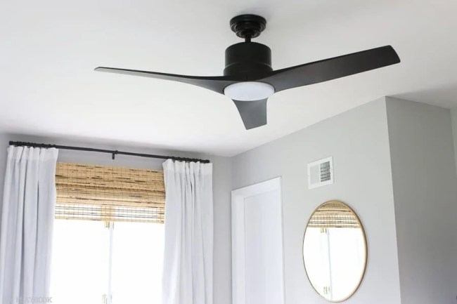 lowes-makeover-bedroom-reveal-black-fan-curtains-mirror
