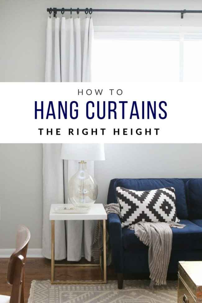how do i hang curtains