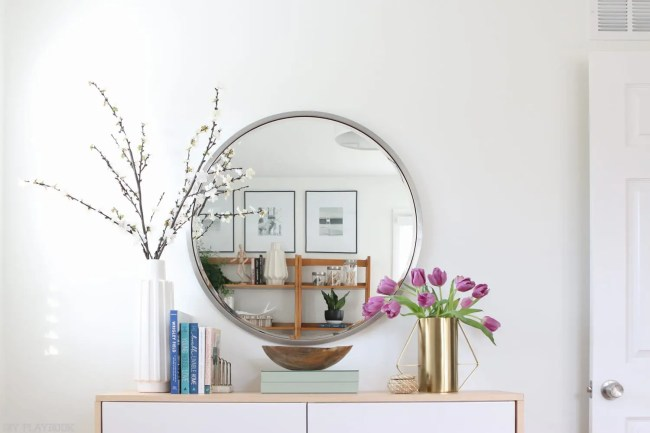 fauxdenza_mirror_Spring_branches_books_flowers-16