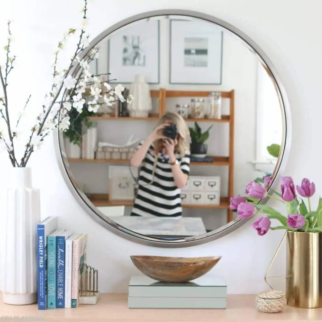 fauxdenza_mirror_Spring_branches_books_flowers-6