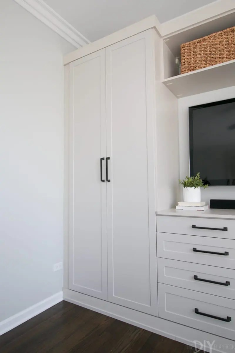 master bedroom built ins with storage