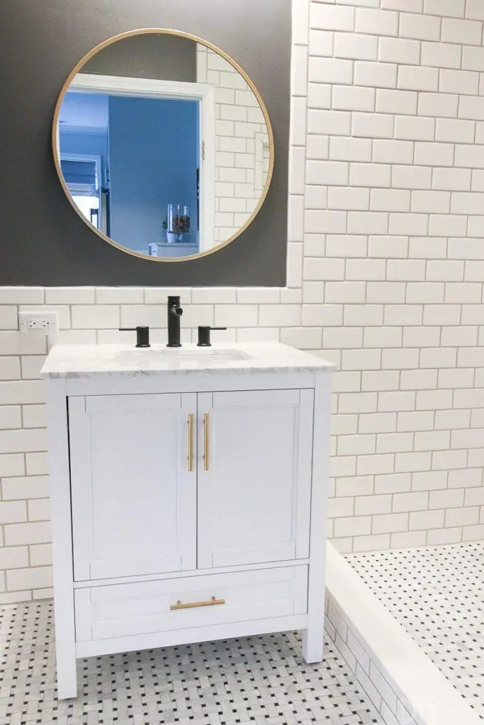 to hang a bathroom mirror
