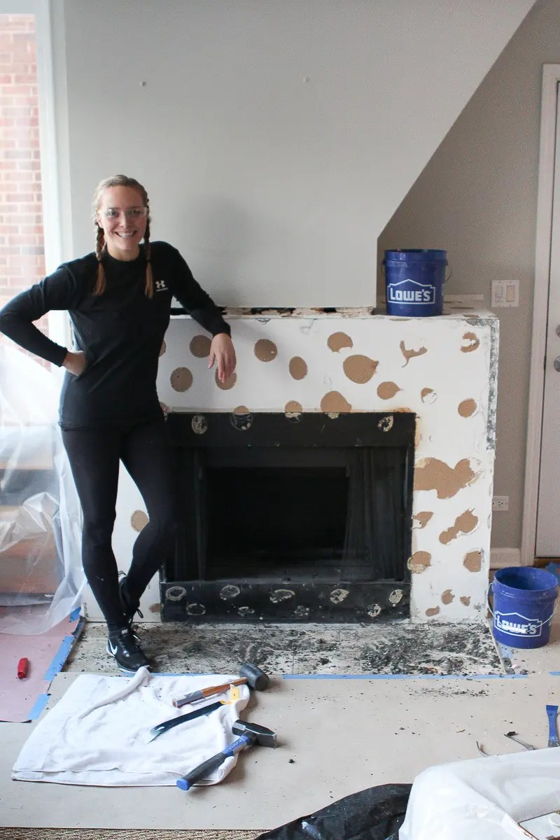 adding cement board to fireplace