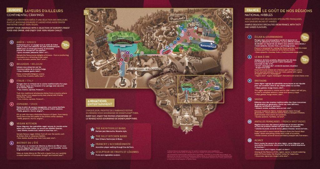 Le Rendez-vous Gourmand map 2019
