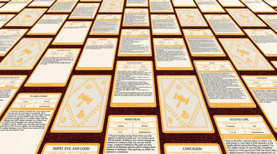 Free DampD Printable Spell Cards 5e The DMs Tavern