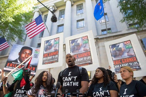 Justice Department won't charge NY police officer in 2014 chokehold death of Eric Garner