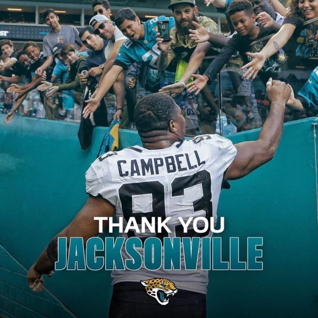 Jacksonville Jaguars Agree to Trade DE Calais Campbell to Baltimore Ravens