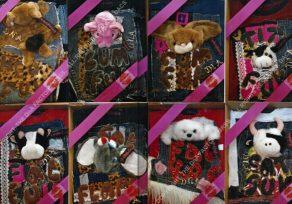 STICKY PUPPY [1-8]. 200 x 500 cm. 2003. 30 Pieces [Shown 1-8]