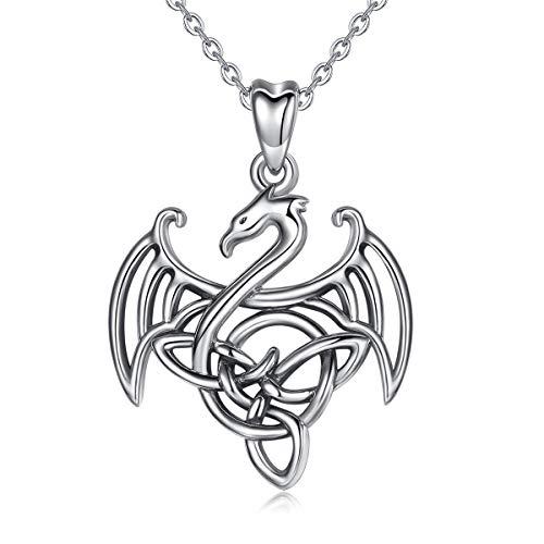 Dragon Pendant 925 Sterling Silver Choose Color
