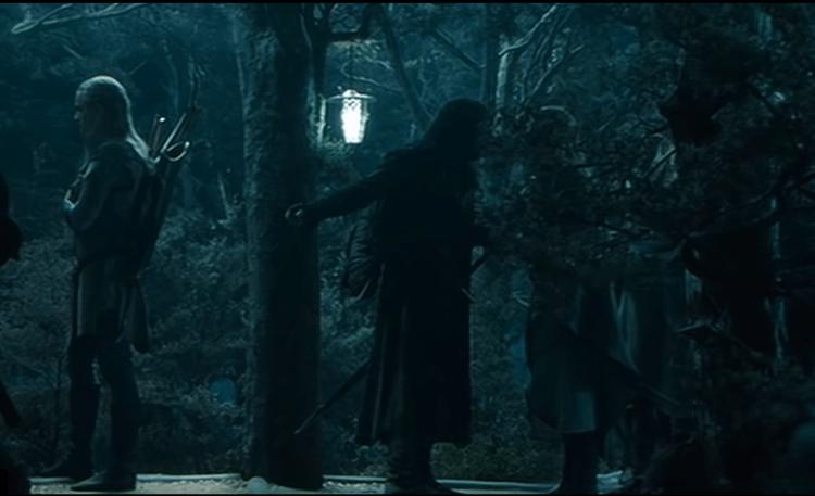 Lord of the rings - Aaragorn Arguing with Haldir in Lothlorien