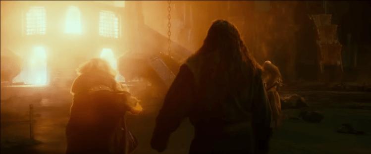 Thorin Oakenshield lights the Dwarven Forge
