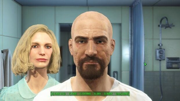 Fallout 4 Character creation screens