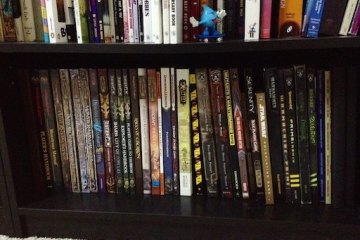 shelf full of rpg books