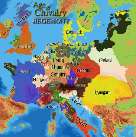 Complete new topographical map of Age of Chivalry: Hegemony with the upcoming playable civilisations.