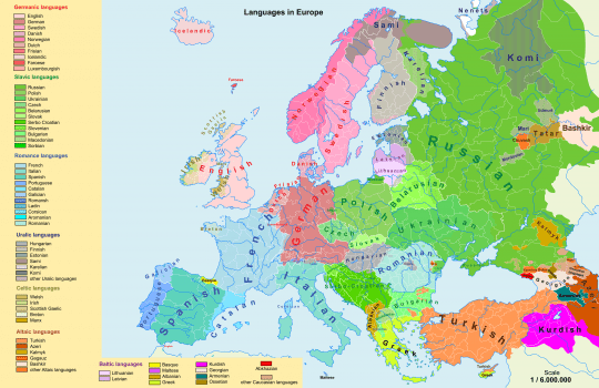 current linguistic map of europe image source wwwcommonswikimediaorg