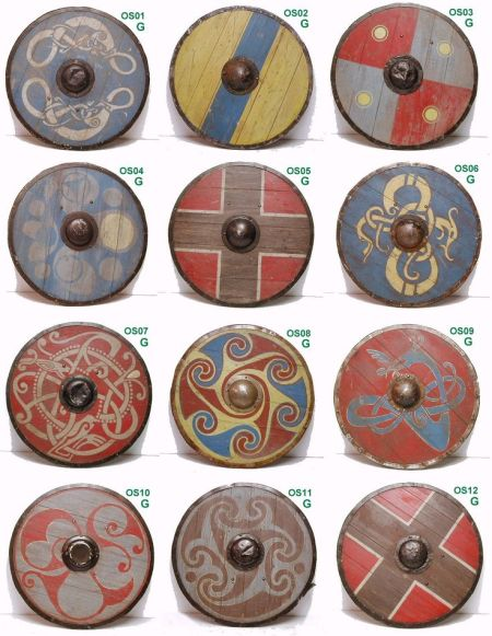 Norse shield patterns. Image source: www.pinterest.com