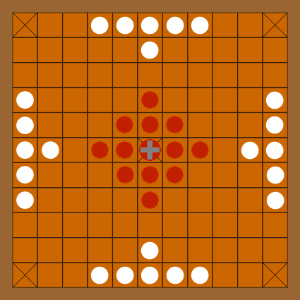 Probably 11x11 Hnefatafl board game. Image source: www.commons.wikimedia.org