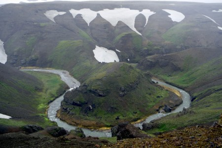 Photograph from the Kerlingarfjöll mountain range in the Highlands of Iceland