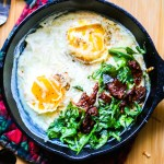 7 Health Benefits of Eggs and A Recipe For Baked (Shirred) Eggs with Arugula and Sun-dried Tomatoes