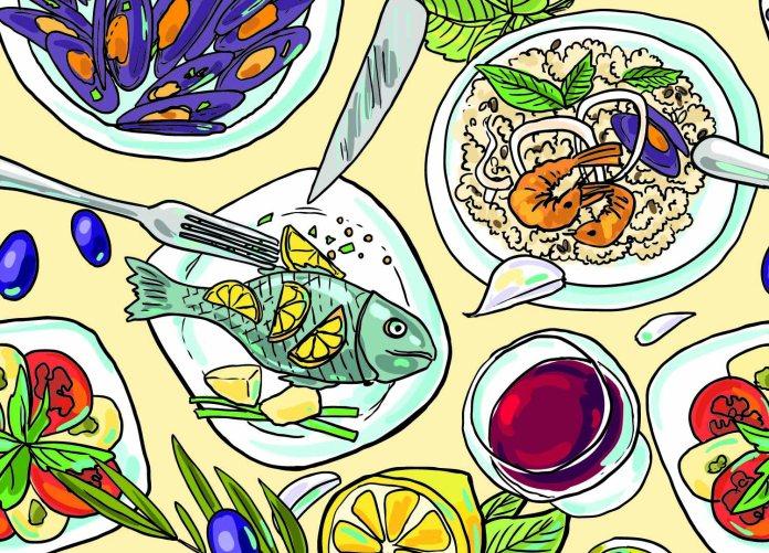 Mediterranean diet graphic (1500 x 1080 px)