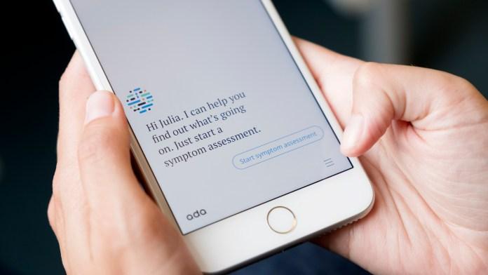 Ada app open on smartphone (courtesy of Ada Health) 2000 x 1125