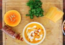 Squash soup and canteloupe 1500 x 1151
