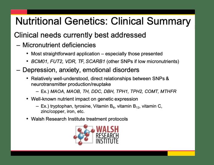 Nutritional Genetics Clinical Summary Slide 974 x 752