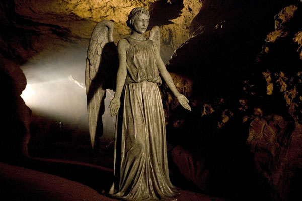 The Weeping Angels as they appear in Time of Angels/Flesh and Stone