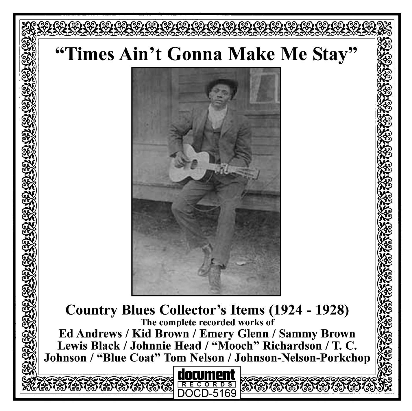 Country Blues Collector's Items (1924-1928) - The Document