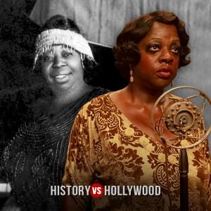 The real Ma Rainey and actress Viola Davis .History v Hollywood.com